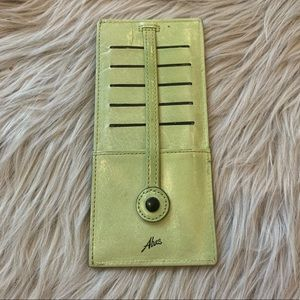 Abas Leather Credit Card Holder- green
